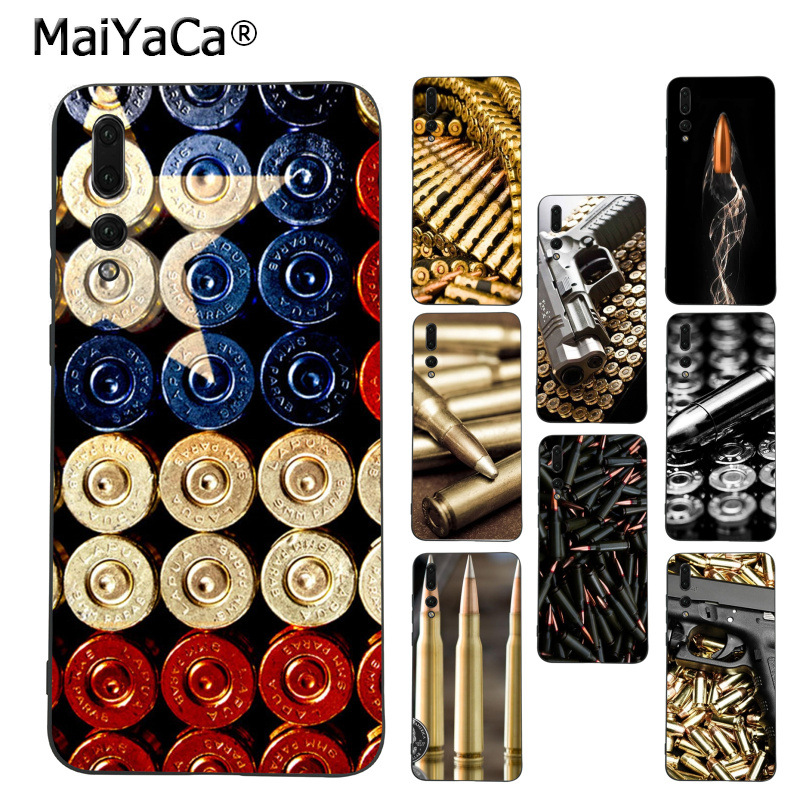 Honest Maiyaca Loose Gold Bullets Gun Bullet Diy Phone Case For Huawei Mate10 Lite P20 Pro P9 P10 Plus Mate9 10 Honor 10 View 10 To Win A High Admiration Half-wrapped Case Cellphones & Telecommunications
