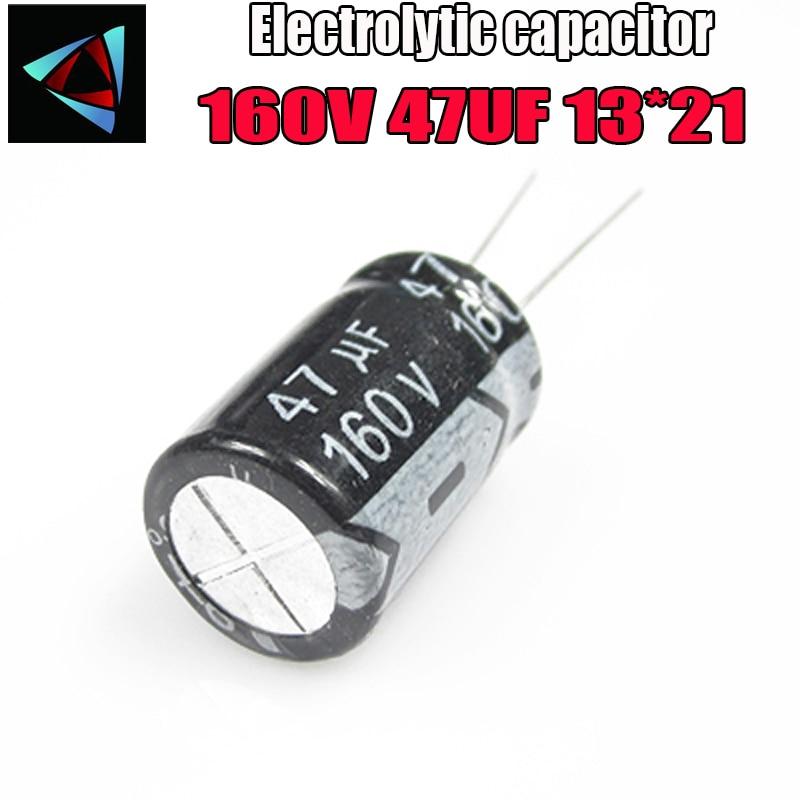 4PCS Higt Quality 160V 47UF 13*21mm 47UF 160V 13*21 Electrolytic Capacitor