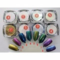 11 unids/set Glitter Uñas Pigmento Pigmento de Cromo Espejo Polvo Nails UV Gel Esmalte de Uñas Herramientas Del Arte Del Clavo Glitters Polvo Holográfico