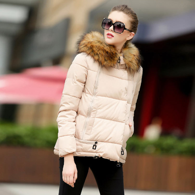 ФОТО 2016 Europe fashion long wool Cape coat lapel Hat thick warm a female winter parkas new style wholesale