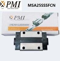 10pcs/lot Original Taiwan PMI MSA25S N MSA25SSSFCN linear guideway sliding block Carriage for CO2 laser machine MSA25S