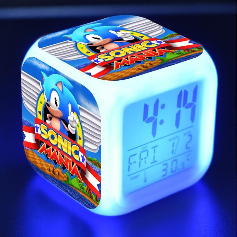 Sonic The Hedgehog LED Cube Alarm Clock 13