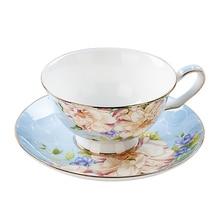 European Coffee Cup Tea Ceramic Espresso Cups Set Saucer Set Vintage High Tea Tazas Environmentally Friendly Home 50T001