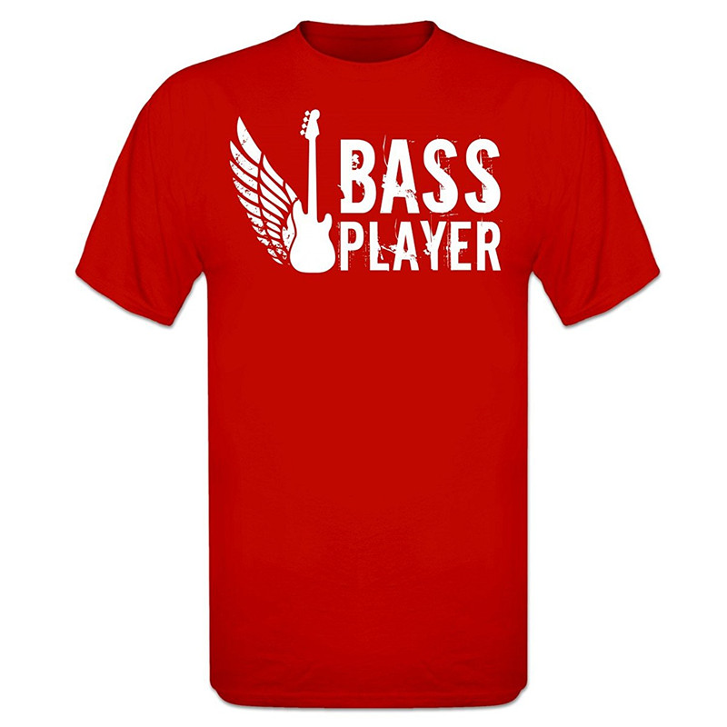Online Custom T Shirts Create Shirts Online Crew Neck Men Short Printing Bass Player Shirt