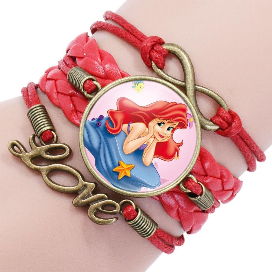 Детский Браслет Принцессы Диснея с героями мультфильма «Холодное сердце», Эльза, прекрасный подарок для девочек, аксессуары для одежды, детский браслет, украшения для макияжа - Цвет: 7