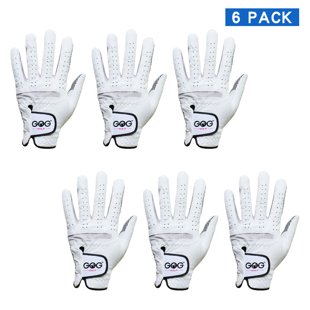 6 PCS Golf Gloves Men's Golf Glove Soft Breathable Pure Sheepskin Genuine Leather slip-resistant design Drop Ship title=