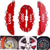 4 pièces/2 pièces voiture Auto frein à disque étrier couvercle avec 3D Word Kit Fit à 14-18 pouces voiture rouge frein couvercle pour Brembo étrier couvercle