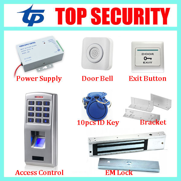 Hot sale F3 metal case fingerprint door access control system with keypad biometric fingerprint door security kits