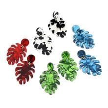 ECODAY Geometric Leaf Acetat Acrylic Earrings for Women Dangle Earring 2019 Brincos Pendientes Earings Fashion Jewelry