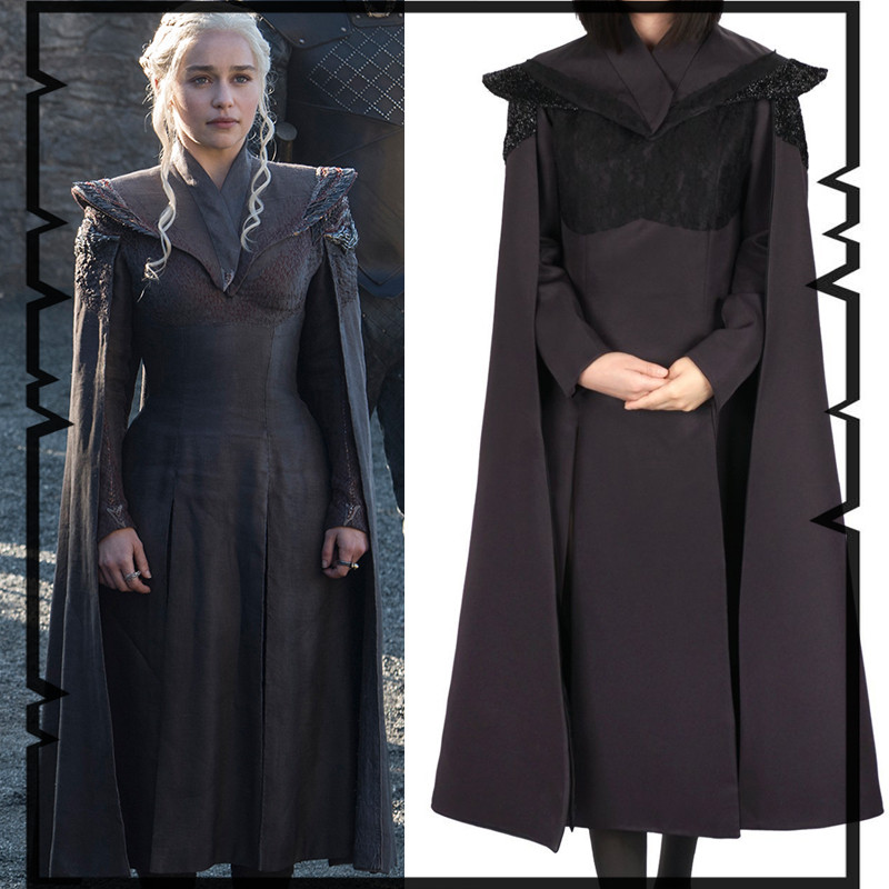 Daenerys Targaryen Costume Game Of Thrones The Unburnt Mother of Dragons Cosplay Adult Women Halloween Costumes Euro size