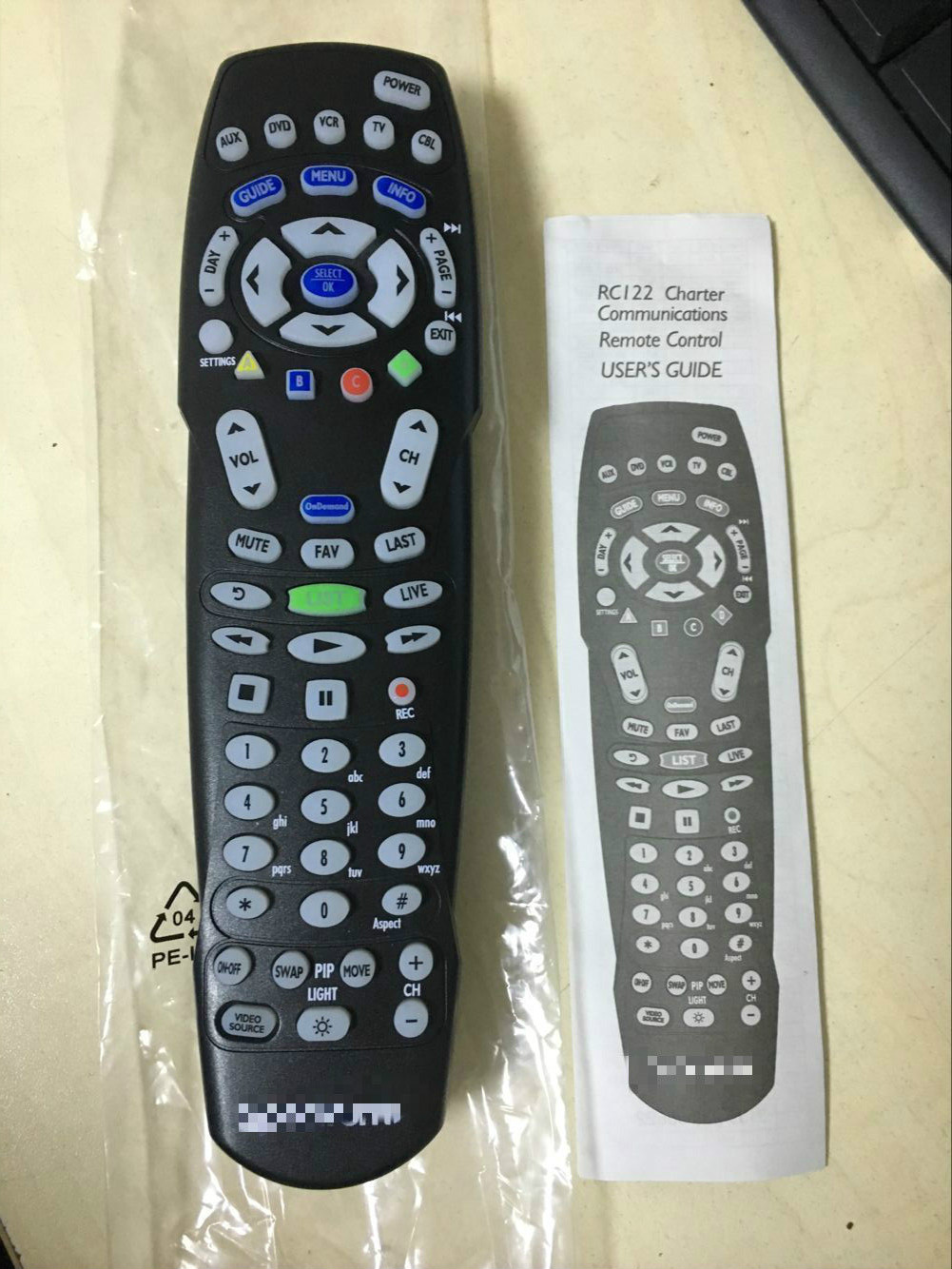 new original rc1226006  03b for spectrum time warner cable box rc122 remote control