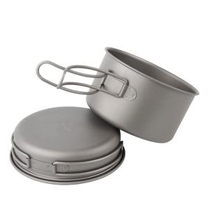 Image 3 - APG 2016 newest ultralight titanium pan and outdoor camping titanium pan enhancing the body resistance