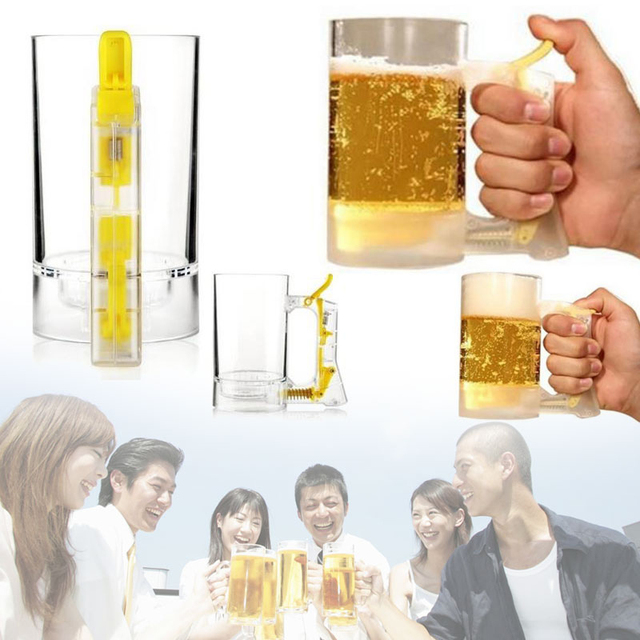 Bar Atmosphere Beer Bubble Foaming Mug 1pcs Hour Friendly Beer Foam Maker Frothing Cup Beer Glass Party Supplies Beer Foamer Mug 4