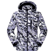 DIRENJIE 2017 Man New Winter Waterproof Fishing Softshell Fleece Warm Comouflage Jackets SoftShell Camping Hunting Hiking