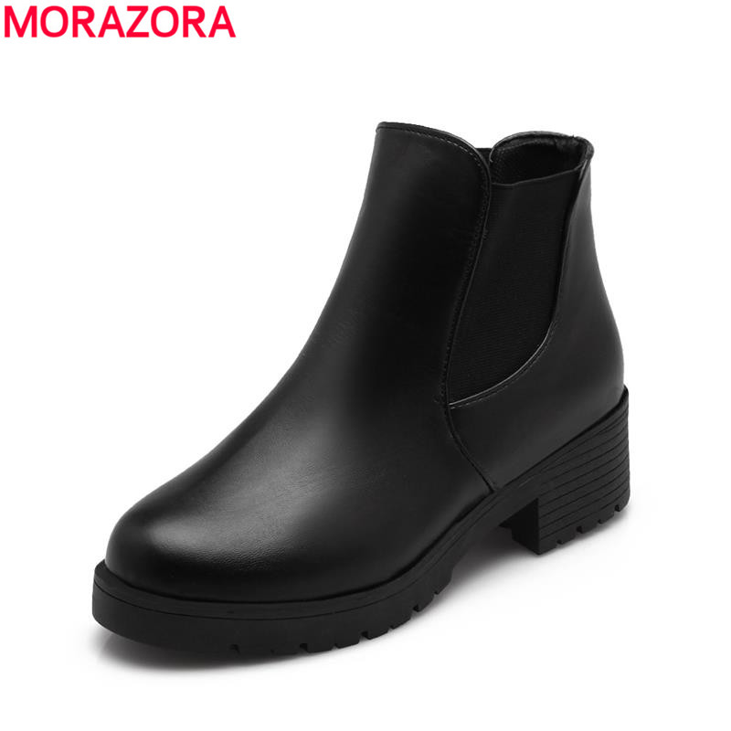 2017 autumn new arrive slip on cool women ankle fall Martin boots med heels casual shoes round toe dashing simple boots new fashion women s autumn winter ankle boots sexy round toe casual shoes women med heels woman martin black shoes riding boots