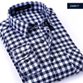 2015 New Arrival Top Quality Flannel Men Slim Fit Plaid Shirts Mens Long Sleeve Dress Shirts Men Formal Business Fashion Shirts