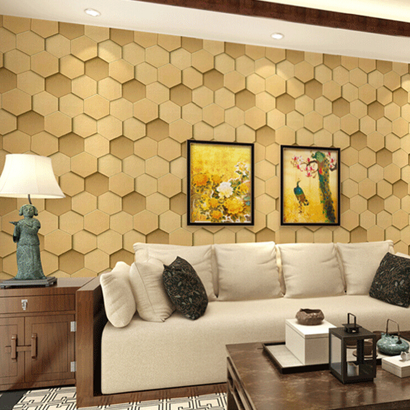 Colorful Wall Coverings Living Room Pattern - Art & Wall Decor ...