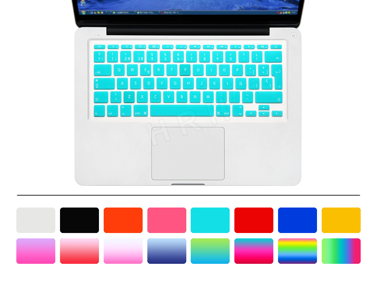 HRH Uni-kleur Waterdicht ultradunne Spaanse Siliconen Toetsenbord - Notebook accessoires - Foto 2