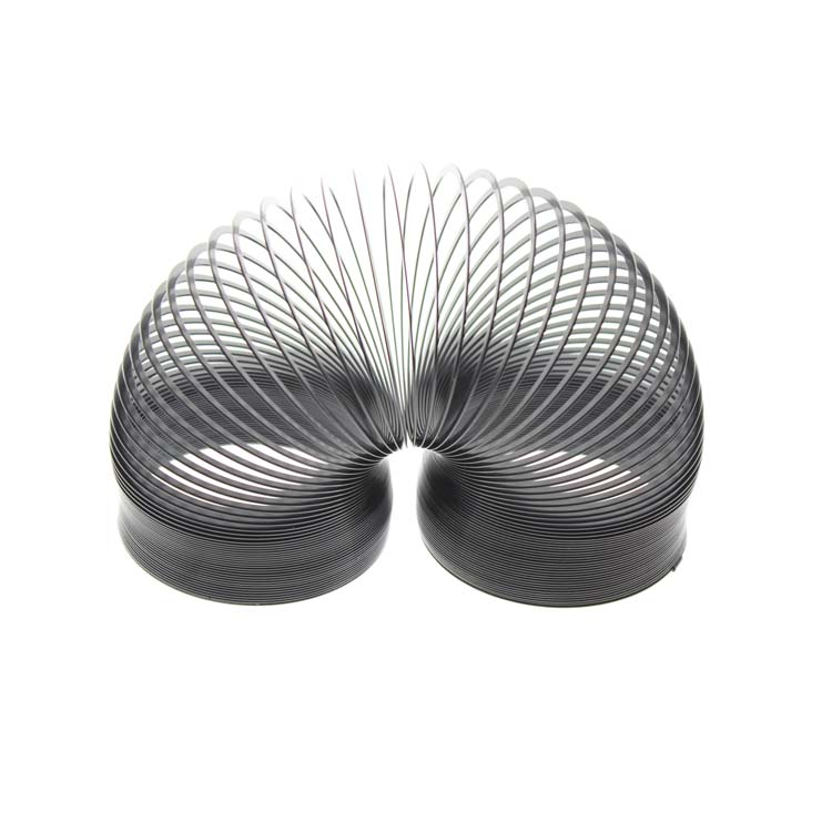 68*67*67mm Size Metal Black Original Magic Slinky Spring Toy For Kids(Not For Children Under 3 Years) And Adults