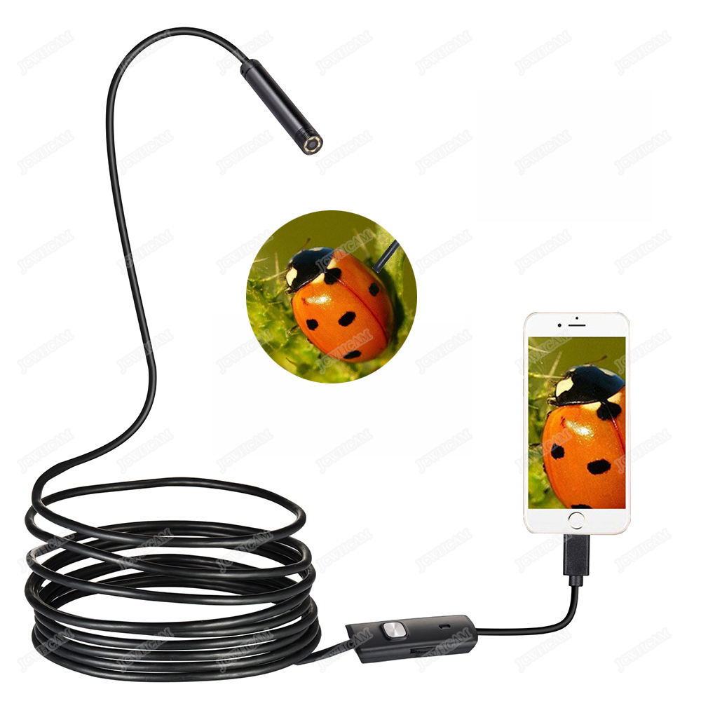 Hot 7mm/8mm Lens 1M 2M 3.5M 5M Android USB Endoscope Camera Flexible Snake USB Pipe Inspection Android Phone Borescope Camera new 5 5mm lens mirco usb otg endoscope inspection camera 1m 2m 5m waterproof snake pipe android borescope camera lcc77