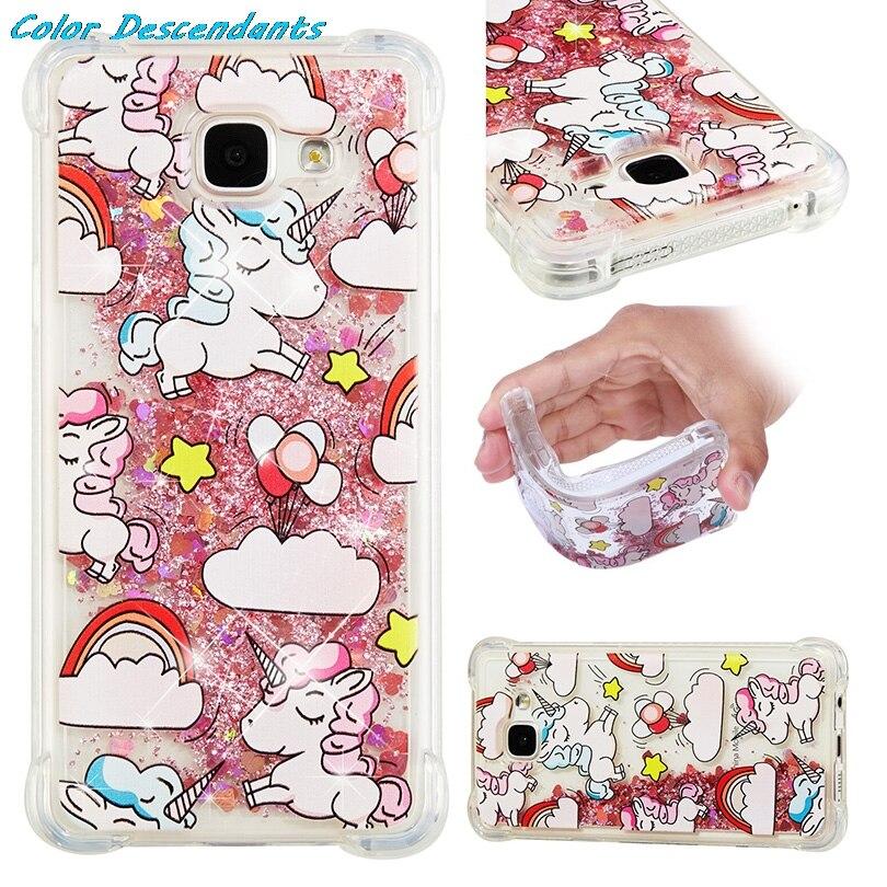 Unicorn Glitter Liquid Case SFor Coque
