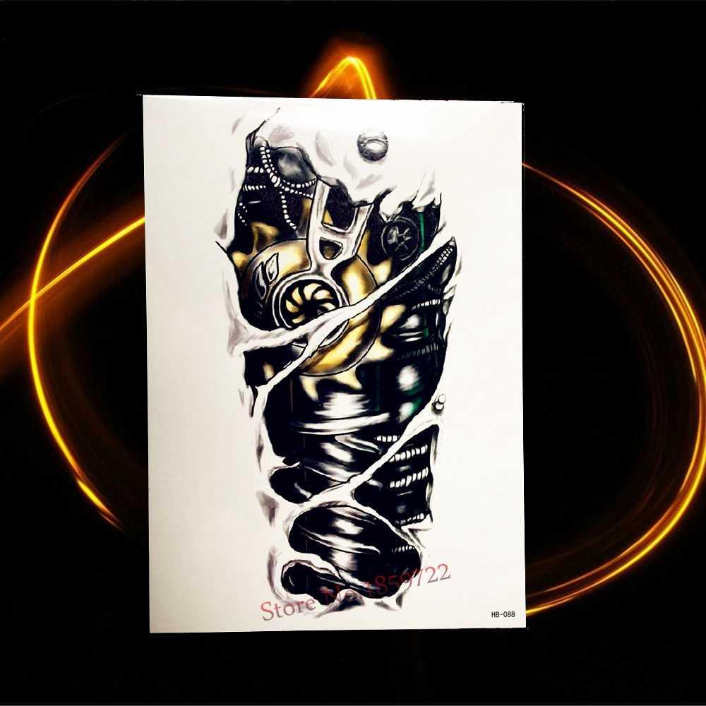 Черная поддельная татуировка, алмазная мелодия, крестик, звезда, на санскрите, тибетский дизайн, водонепроницаемые наклейки на лицо, временная татуировка, HHB646
