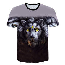 2019 New Fashion Men/Women 3d T-shirt lion Print Digital Color wolf Summer Tops Tees Tshirts size M-5XL