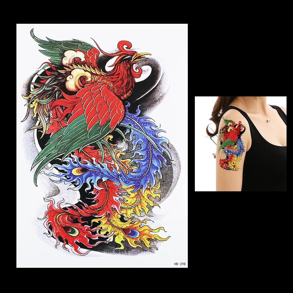 Phoenix tattoo for men - 1pc Oriental Traditional Women Men Temporary Body Arm Sleeve Art 3d Tatoo Hb298 Phoenix Tattoo Sticker
