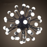 American rural retro industrial Loft creative droplight Wrought iron LED restaurant bar Coral droplight