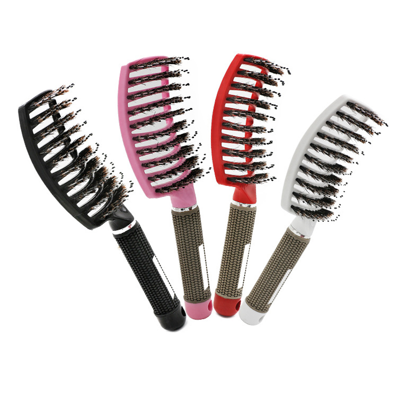 Bristle Hair Brush Scalp Massage Comb Magic Detangle Hairbrush For Tangle Hair Brush Salon Hairdressing Styling Tools Massager 5