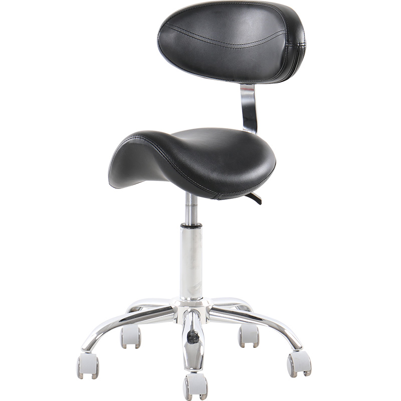 Hydraulic Rolling Medical Massage Stool Chair with Backrest Salon Stool Spa Equipment 360 Degrees Swivel Hair Barber Chairs