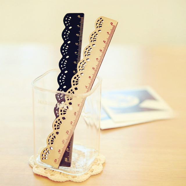 Pretty Lace Patterned Wood Ruler