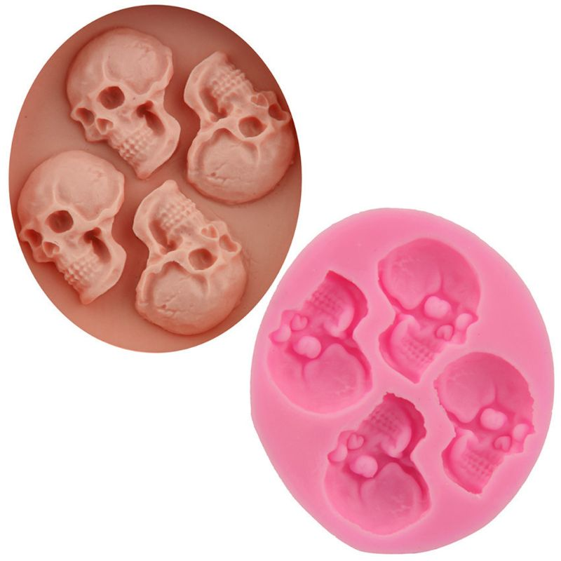 3D Skull Resin Charms Pendant Mold UV Resin Jewelry Silicone Mold Jewelry Making