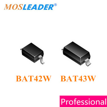 Mosleader BAT42W BAT43W SOD323 SOD123 3000PCS BAT42 BAT42WS BAT43 BAT43WS 0805 1206 High quality
