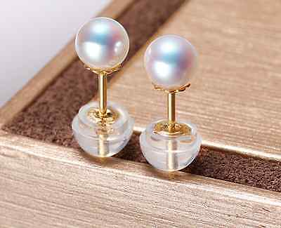 charming 8mm south sea white round pearl earring  14KGP >jewerly free shippingcharming 8mm south sea white round pearl earring  14KGP >jewerly free shipping