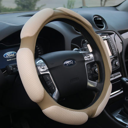 38cm car steering wheel Cover for ford focus fiesta mondeo kuga ecosport interior accessories