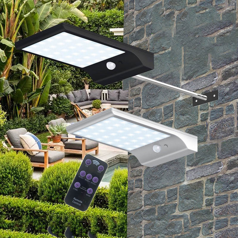 Dimmable Outdoor Patio Lights: TAMPROAD 48LED Solar Lamp Remote Control Dimmable Solar