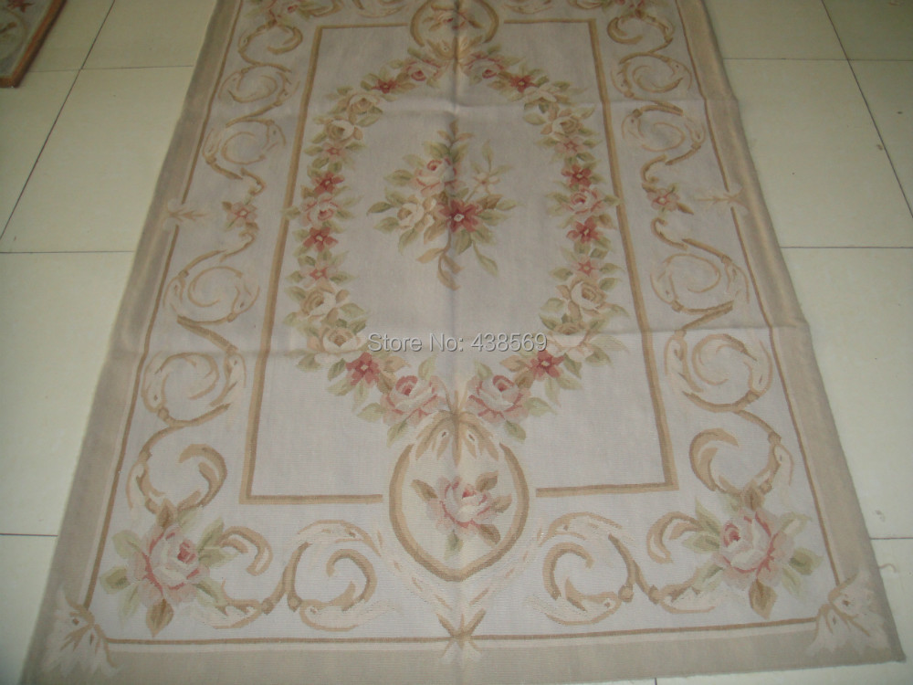 Free Shipping 4 X6 Woolen Aubusson Rug