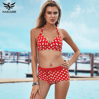2016 New Bikinis Women Swimsuit Plus Size Swimwear High Waist Bathing Suit Push Up Bikini Set