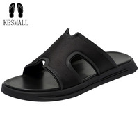 KESMALL Summer Shoes Men Outdoor Flip Flops Bathroom Home Slippers Beach Shoes Leisure Slippers Sandals Indoor Boy Shoes WS56