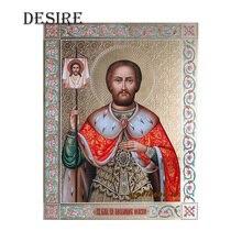 ccb74b80d85 Deseo pintura diamante Cruz puntada retrato sacerdote religioso mosaico  cuadrado foto de diamantes de imitación de diamante del .