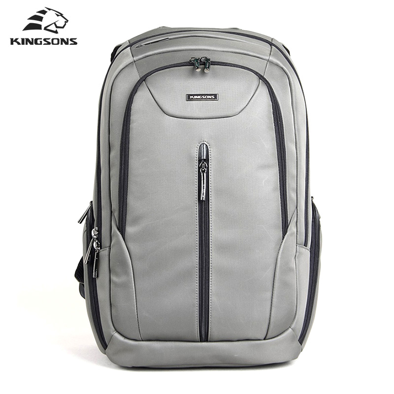 Kingsons Waterproof Backpack Men Business Laptop Computer Backpack 15.6 inch Male Travel Bag Student Casual School Bags for Boys