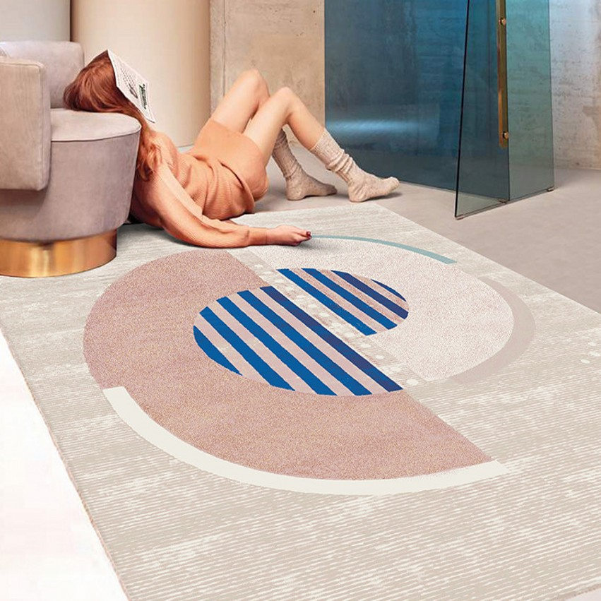 Pink color post-modern decoration coffee table carpet Nordic style big size bedside rug,  geometric living room rugPink color post-modern decoration coffee table carpet Nordic style big size bedside rug,  geometric living room rug