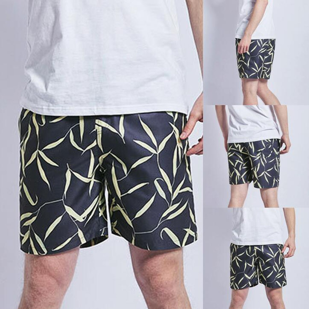 Womail Men's Short Swimming Casual Drawstring Trunks Quick Dry Beach Surfing Running Short Loose Deporte Dropship J24