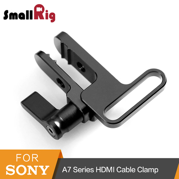 SmallRig HDMI zacisk kablowy blokada dla Sony A7II A7RII A7SII ILCE-7M2 ILCE-7RM2 SmallRig Cage-1679 tanie i dobre opinie Aluminium 9 50 X 8 50 X 2 50 For Universal High quality With Package Double BallHead with Clamp Prevents HDMI cable With two M5 threaded holes