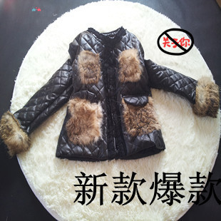 Free shipping newest elegant coat leopard genuine leather quality cuff clothing outerwear autumn and winter