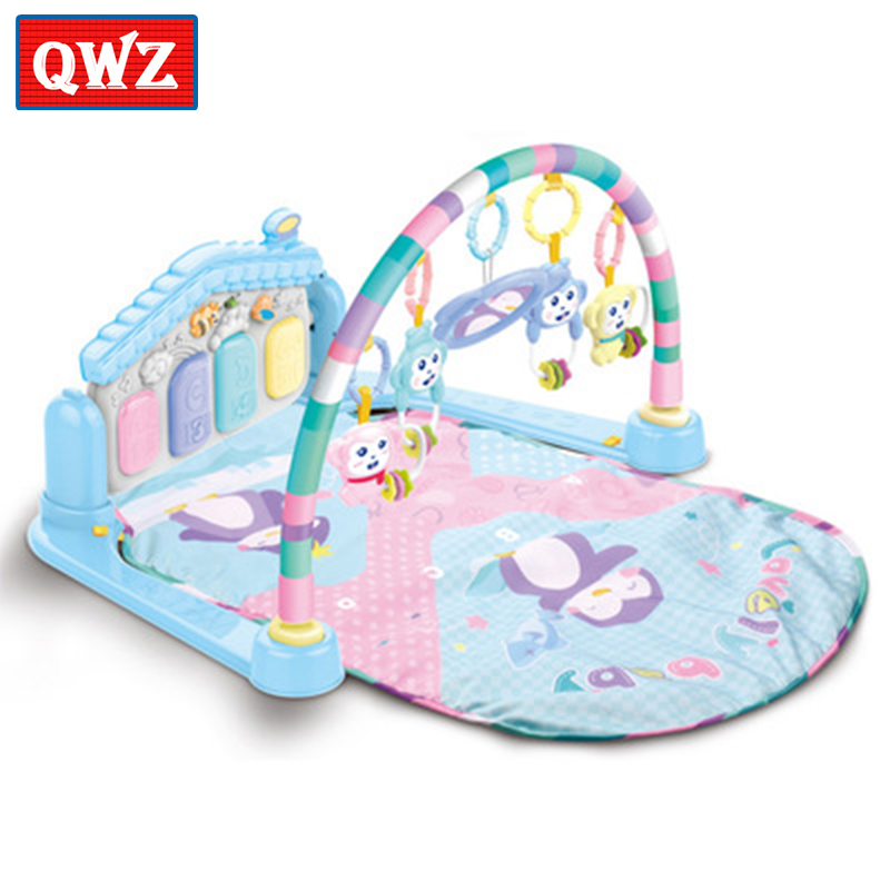 Baby Activity Gym game pad multi-function with light music piano fitness rack baby sleeping play climbing mat and rattle toy