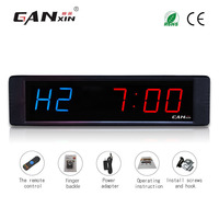 Brand New Count Down Timer Remote Control Large Numer Blue Red Wall Clock 12 24 Hours
