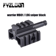 Airgun Air Rifle Gear Parts Accessories E&C Tri-Rail Mounting Adapter Connector For Warrior MB01 / L96 Sniper Black sniper ghost warrior double pack playstation 3