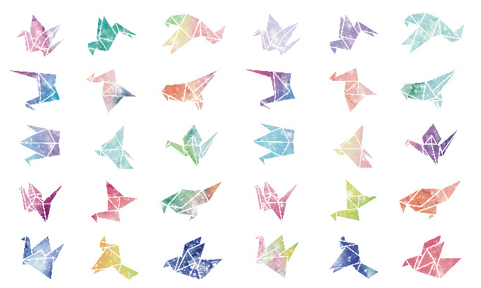 AEMX2-colorful art birds paper postcard(1lot=6pieces)